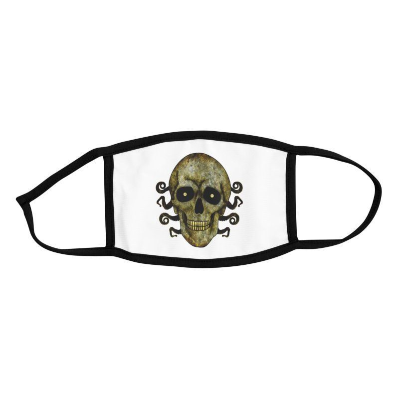 Posterized Grunge Skull 2 Accessories Face Mask by ClaytonArtistry's Artist Shop