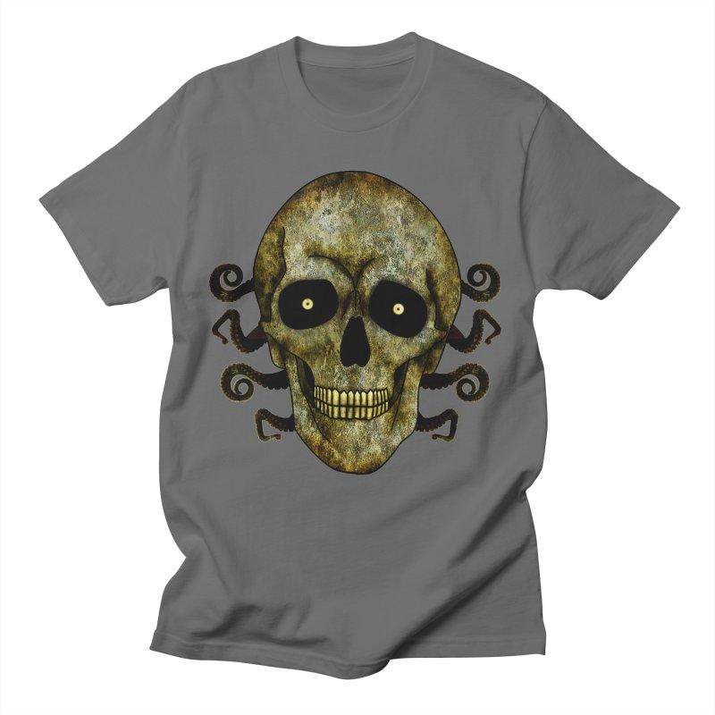 Posterized Grunge Skull 2 Men's T-Shirt by ClaytonArtistry's Artist Shop