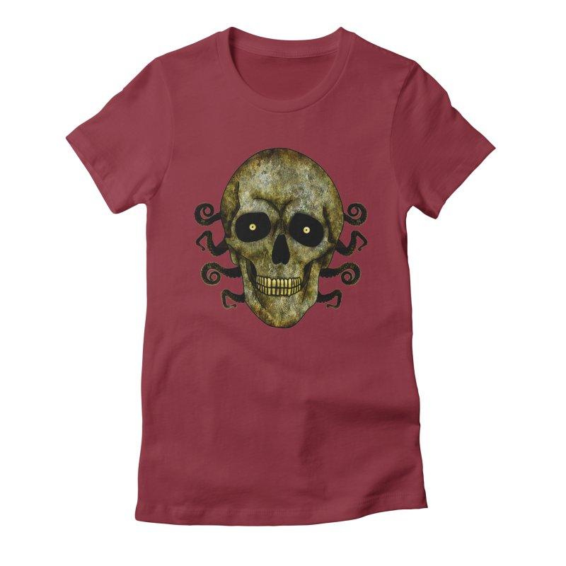 Posterized Grunge Skull 2 Women's T-Shirt by ClaytonArtistry's Artist Shop