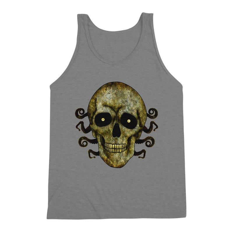 Posterized Grunge Skull 2 Men's Tank by ClaytonArtistry's Artist Shop