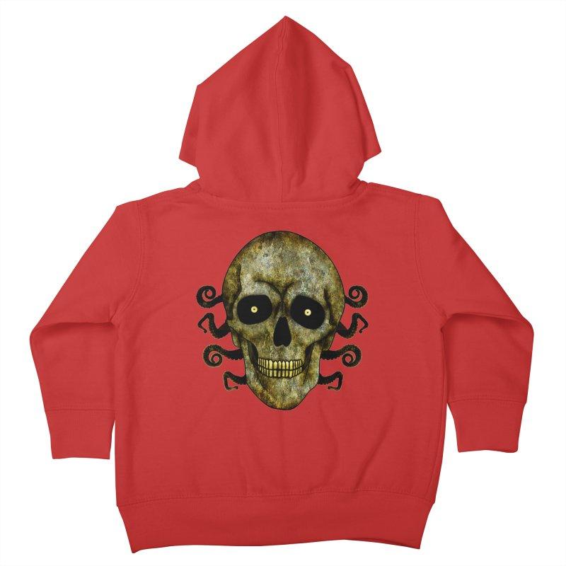 Posterized Grunge Skull 2 Kids Toddler Zip-Up Hoody by ClaytonArtistry's Artist Shop