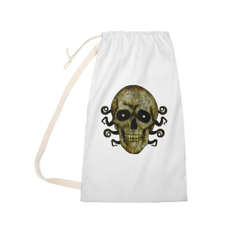 Posterized Grunge Skull 2 Accessories Bag by ClaytonArtistry's Artist Shop