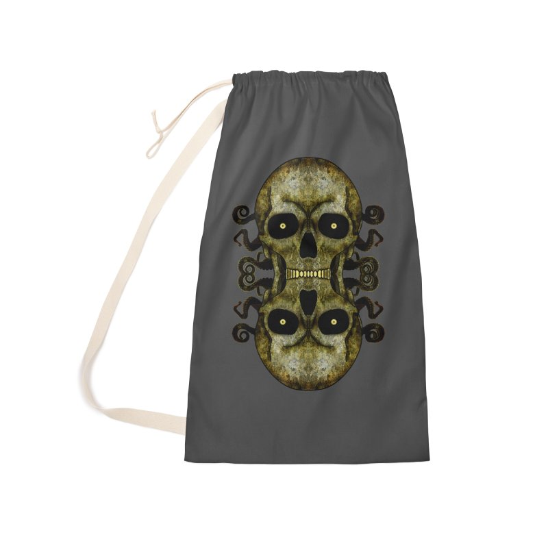 Posterized Grunge Skull Mirrored Accessories Bag by ClaytonArtistry's Artist Shop