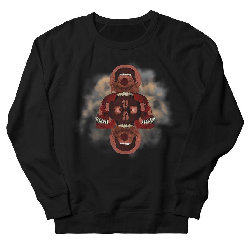 Cubist Red Skulls in Smoke Men's Sweatshirt by ClaytonArtistry's Artist Shop