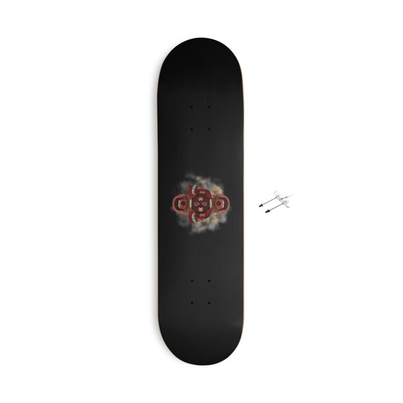 Cubist Red Skulls in Smoke Accessories Skateboard by ClaytonArtistry's Artist Shop