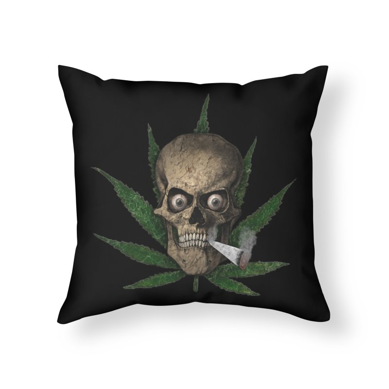 Smoke Time Home Throw Pillow by ClaytonArtistry's Artist Shop