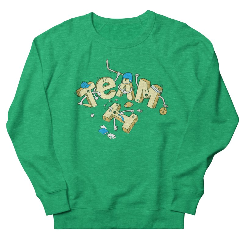 There's no 'I' in team Men's French Terry Sweatshirt by Claytondixon's Artist Shop