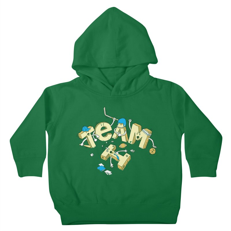 There's no 'I' in team Kids Toddler Pullover Hoody by Claytondixon's Artist Shop