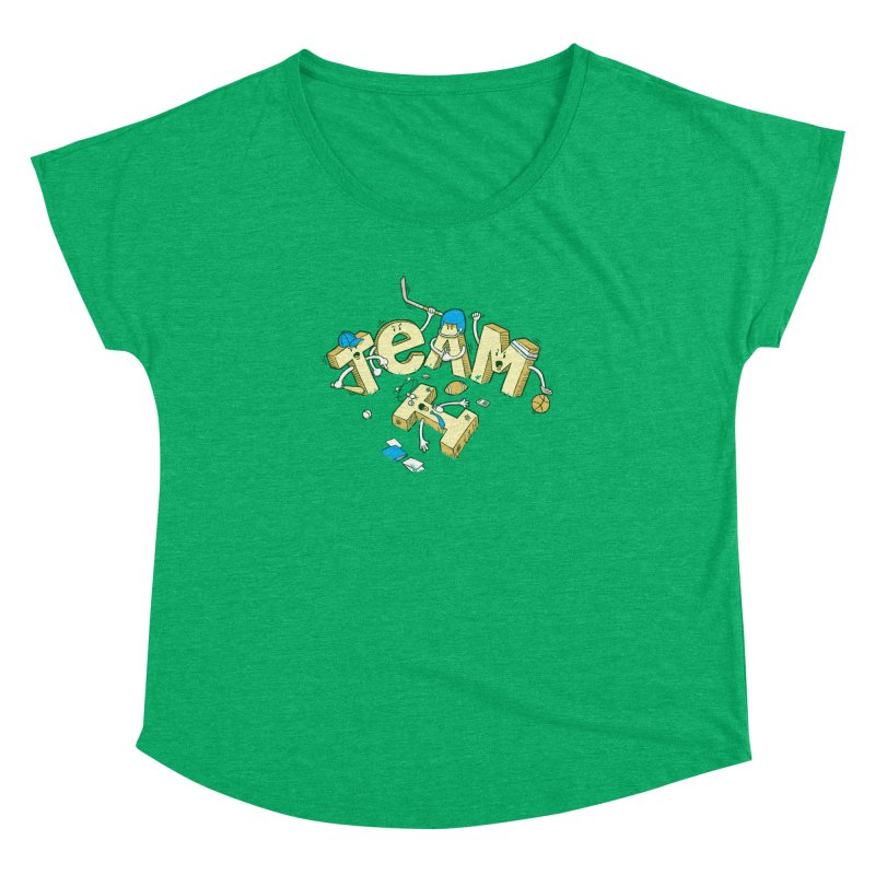 There's no 'I' in team Women's Dolman by Claytondixon's Artist Shop