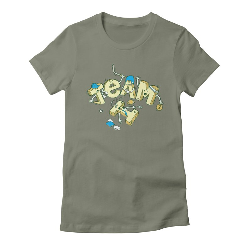 There's no 'I' in team Women's Fitted T-Shirt by Claytondixon's Artist Shop
