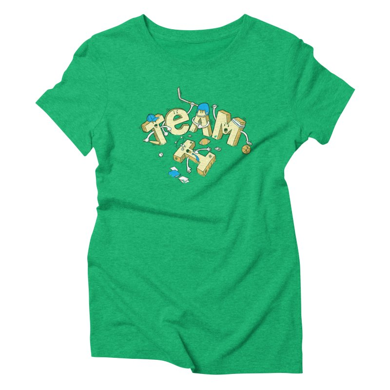 There's no 'I' in team Women's Triblend T-Shirt by Claytondixon's Artist Shop