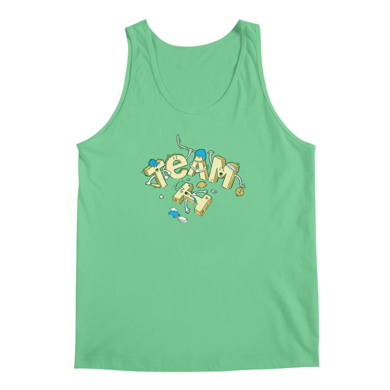 There's no 'I' in team Men's Regular Tank by Claytondixon's Artist Shop