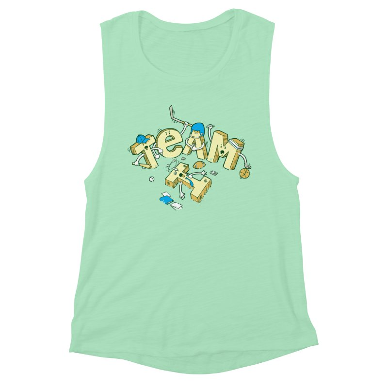 There's no 'I' in team Women's Muscle Tank by Claytondixon's Artist Shop
