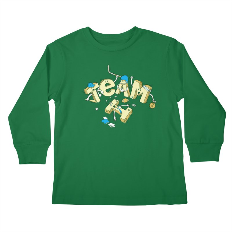 There's no 'I' in team Kids Longsleeve T-Shirt by Claytondixon's Artist Shop