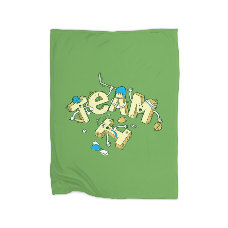 There's no 'I' in team Home Fleece Blanket Blanket by Claytondixon's Artist Shop