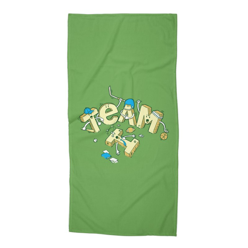 There's no 'I' in team Accessories Beach Towel by Claytondixon's Artist Shop