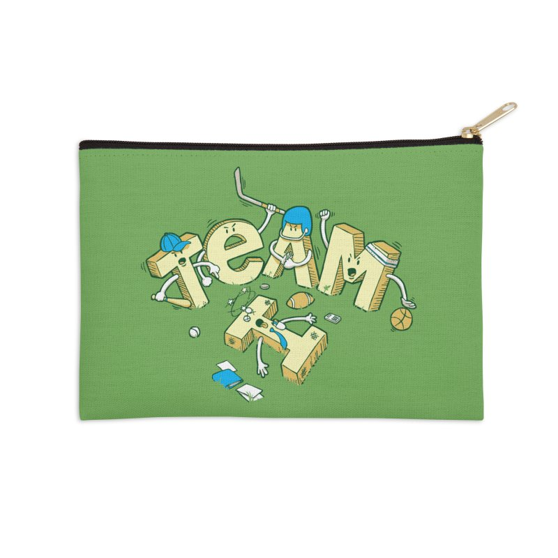 There's no 'I' in team Accessories Zip Pouch by Claytondixon's Artist Shop