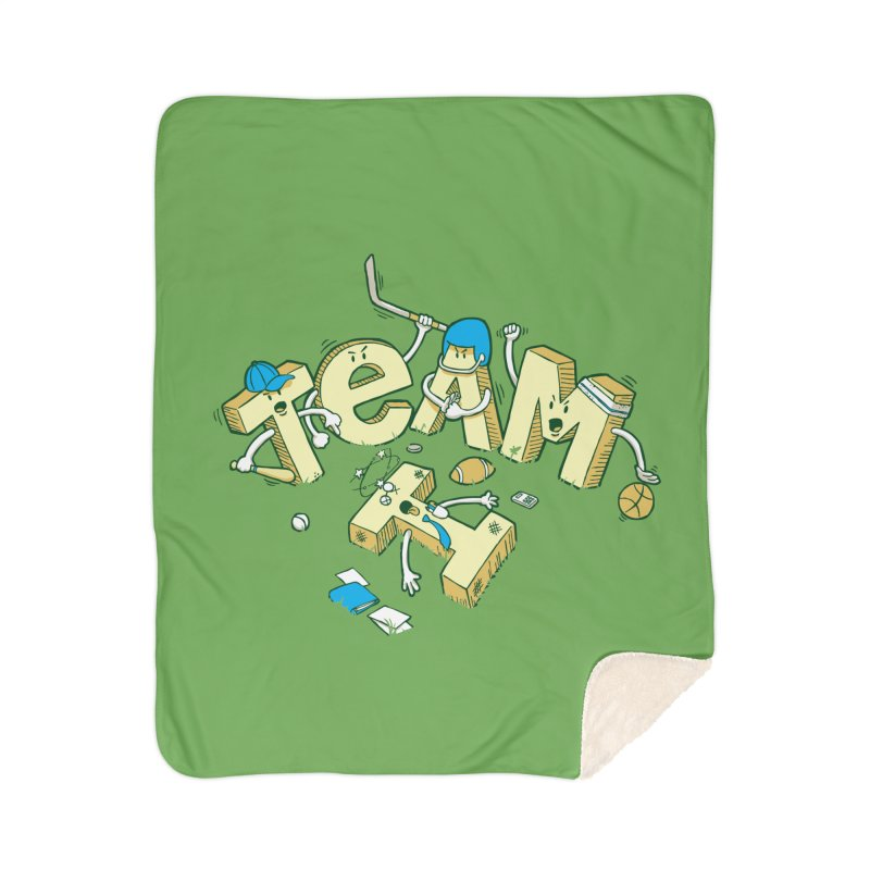 There's no 'I' in team Home Sherpa Blanket Blanket by Claytondixon's Artist Shop