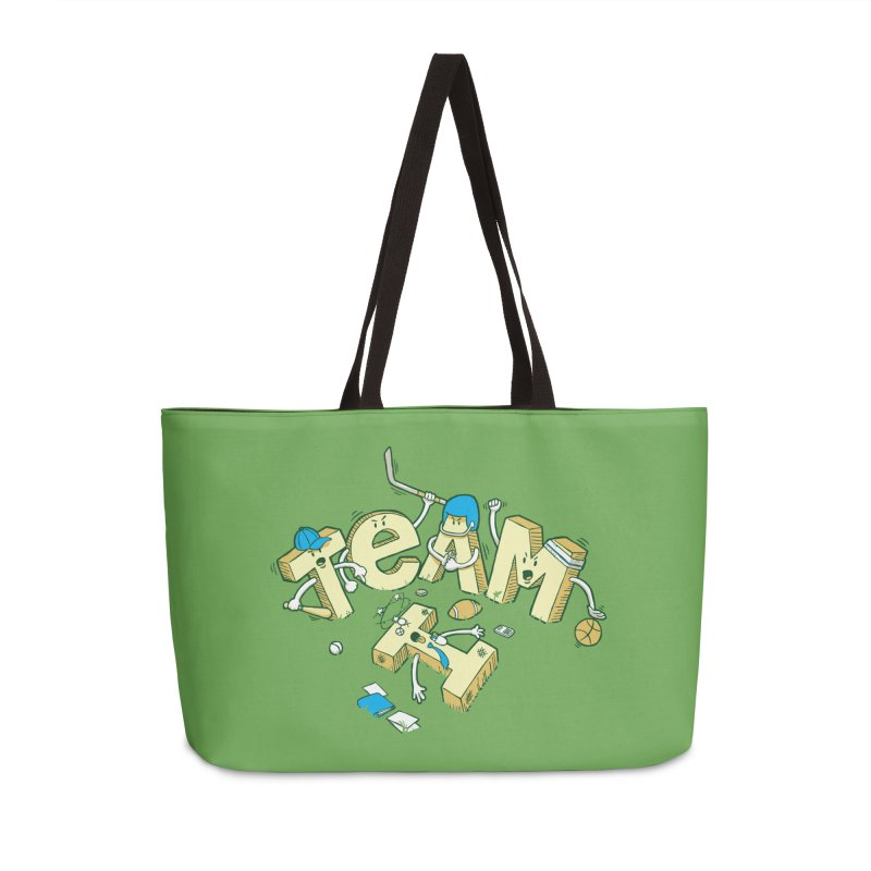 There's no 'I' in team Accessories Weekender Bag Bag by Claytondixon's Artist Shop