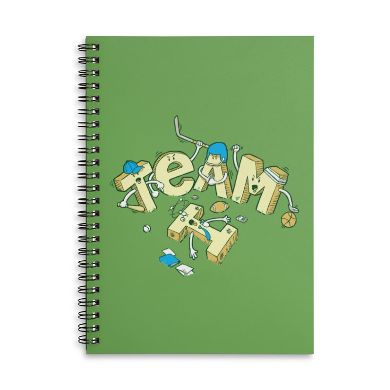 There's no 'I' in team Accessories Lined Spiral Notebook by Claytondixon's Artist Shop