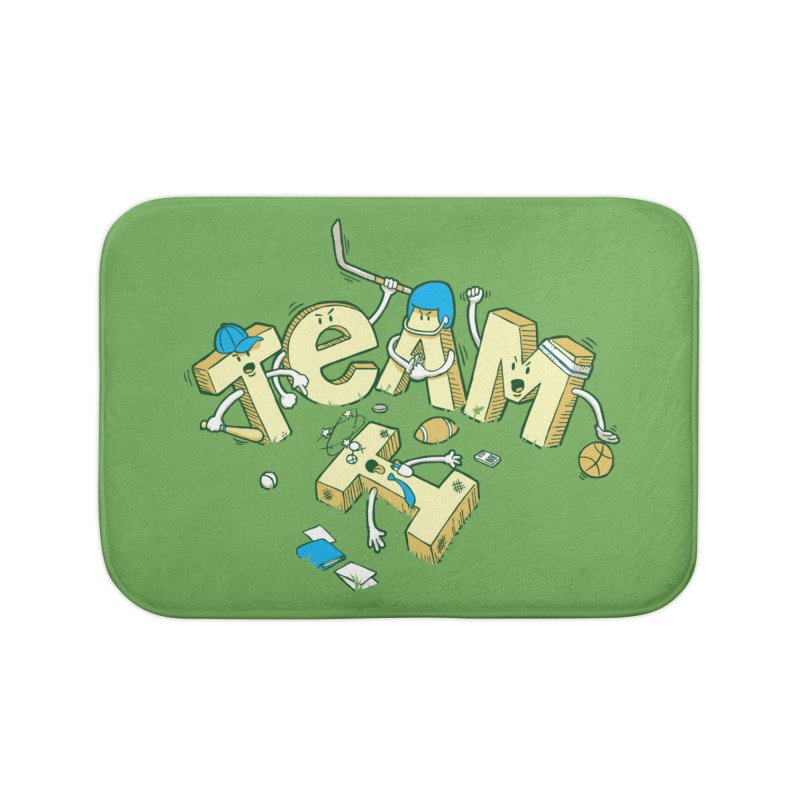 There's no 'I' in team Home Bath Mat by Claytondixon's Artist Shop
