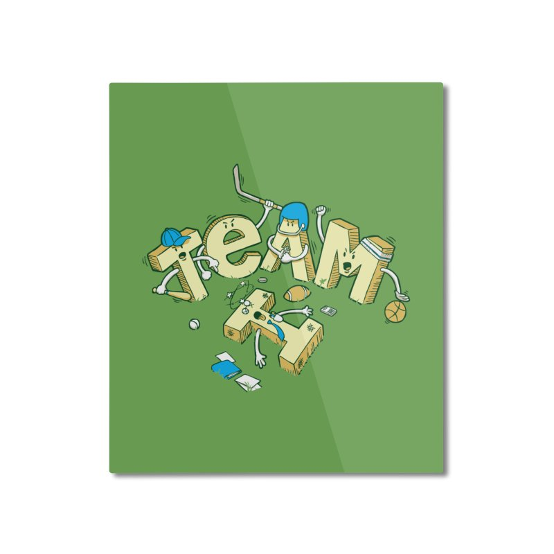 There's no 'I' in team Home Mounted Aluminum Print by Claytondixon's Artist Shop