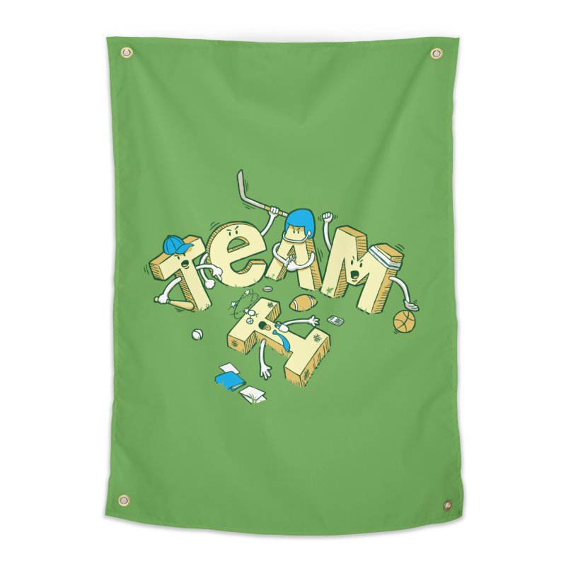 There's no 'I' in team Home Tapestry by Claytondixon's Artist Shop