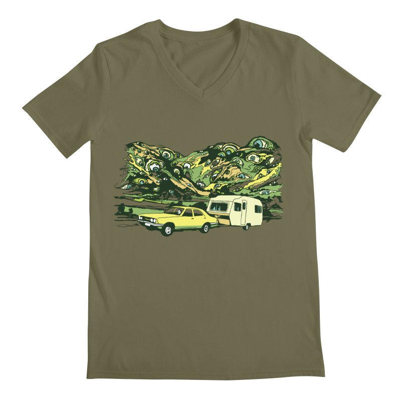 The Hills Have Eyes Men's Regular V-Neck by Claytondixon's Artist Shop