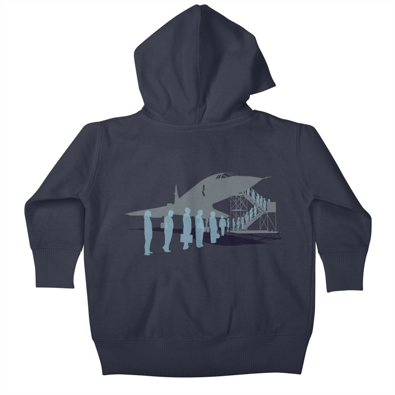 Final Flight Kids Baby Zip-Up Hoody by Claytondixon's Artist Shop