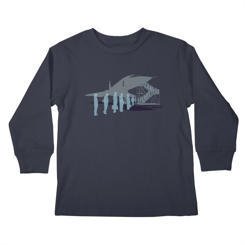 Final Flight Kids Longsleeve T-Shirt by Claytondixon's Artist Shop