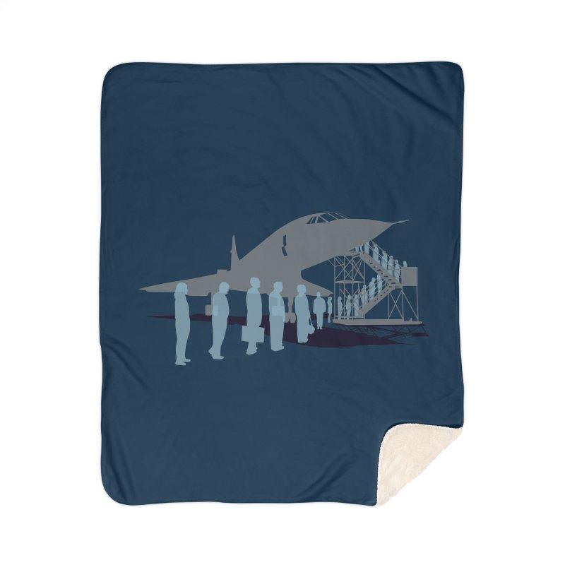 Final Flight Home Sherpa Blanket Blanket by Claytondixon's Artist Shop