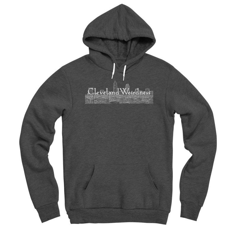 ClevelandWeirdness Skyline Logo in White Men's Pullover Hoody by ClevelandWeirdness Stuff