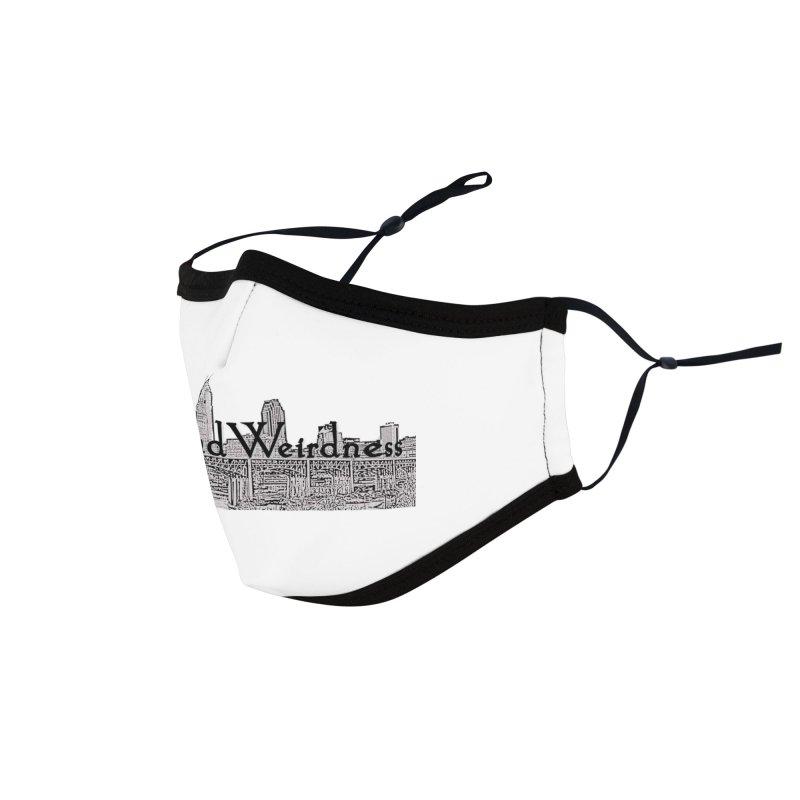 ClevelandWeirdness Skyline Logo in Grey Accessories Face Mask by ClevelandWeirdness Stuff
