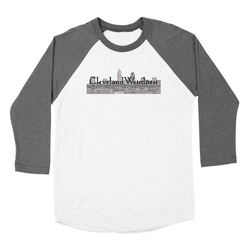 ClevelandWeirdness Skyline Logo in Grey Men's Longsleeve T-Shirt by ClevelandWeirdness Stuff