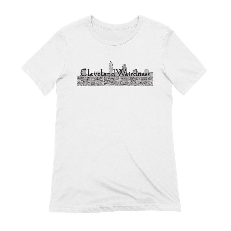 ClevelandWeirdness Skyline Logo in Grey Women's T-Shirt by ClevelandWeirdness Stuff