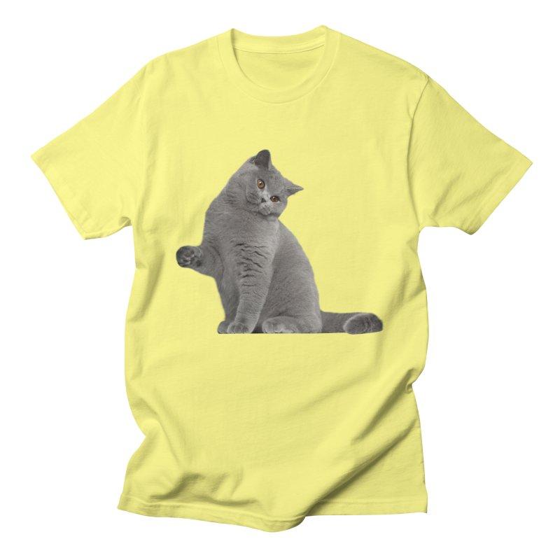 British Cat Men's T-Shirt by CleverTshirts's Artist Shop