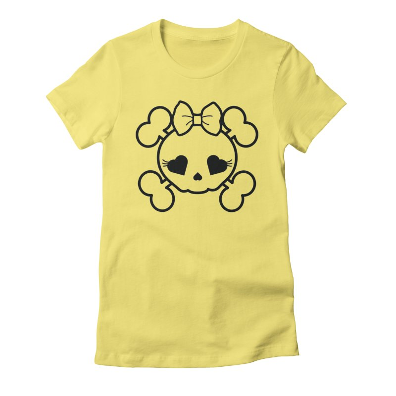 Cutie Pie in Women's Fitted T-Shirt Light Yellow by CleverTshirts's Artist Shop