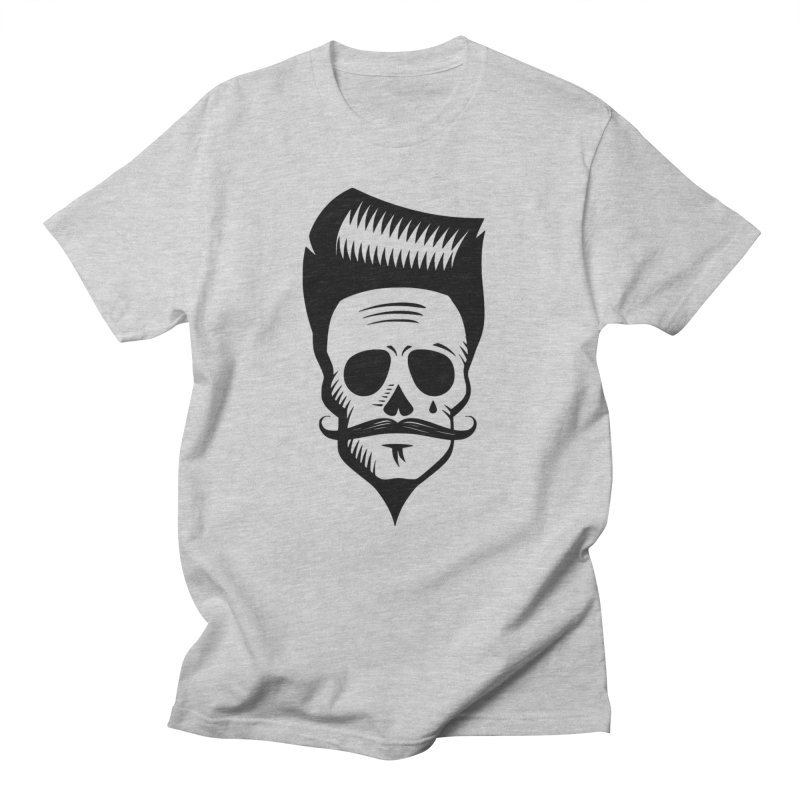 Hipster Skull in Men's Regular T-Shirt Heather Grey by CleverTshirts's Artist Shop