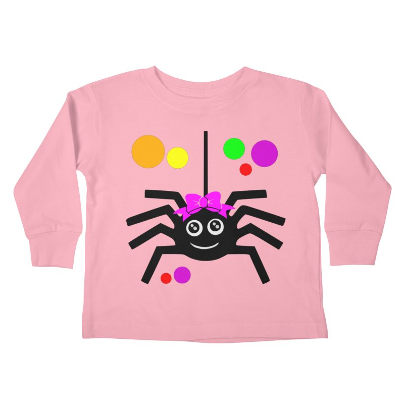 Itsy Bitsy Spider (Girl) in Kids Toddler Longsleeve T-Shirt Light Pink by CleverTshirts's Artist Shop