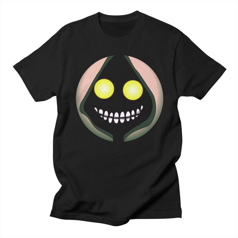 Big Yellow Eyes  in Men's Regular T-Shirt Black by CleverTshirts's Artist Shop