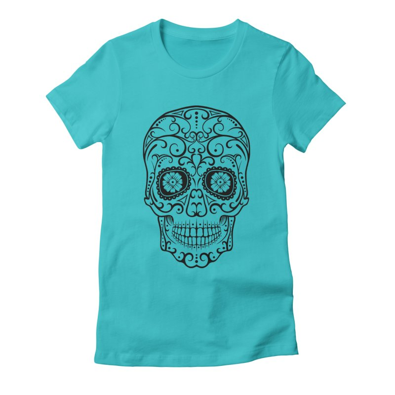 Big Big Smile in Women's Fitted T-Shirt Pacific Blue by CleverTshirts's Artist Shop