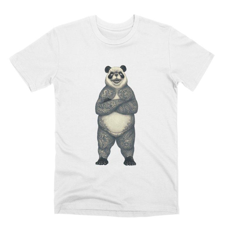 Yakuda : The panda with the dragon tattoo Men's T-Shirt by Cnatch's Artist Shop