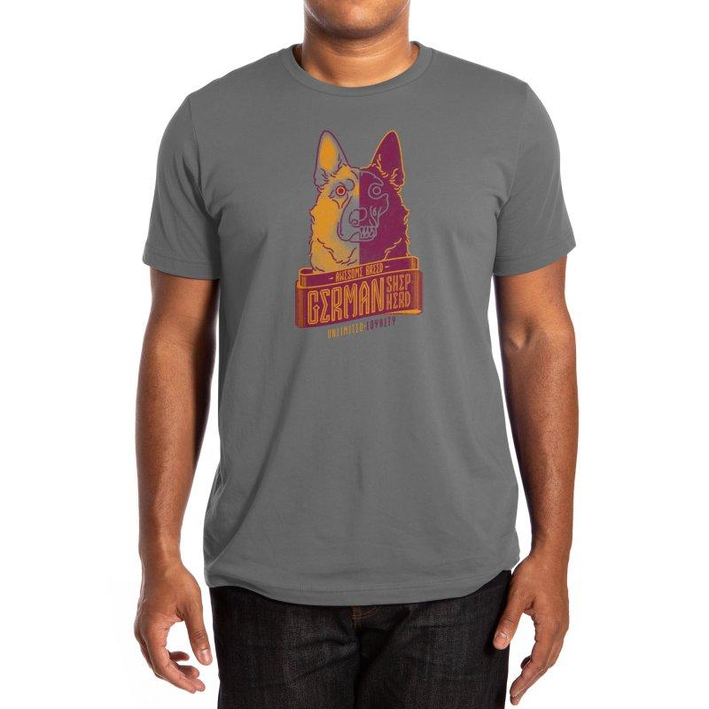 Awesome Breed : German Shepherd Men's T-Shirt by Cnatch's Artist Shop