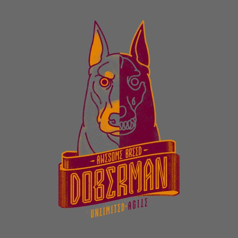 Awesome Breed : Doberman Men's T-Shirt by Cnatch's Artist Shop