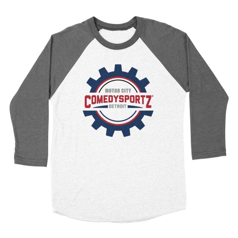 ComedySportz Color Logo Men's Baseball Triblend Longsleeve T-Shirt by ComedySportz Detroit Merch