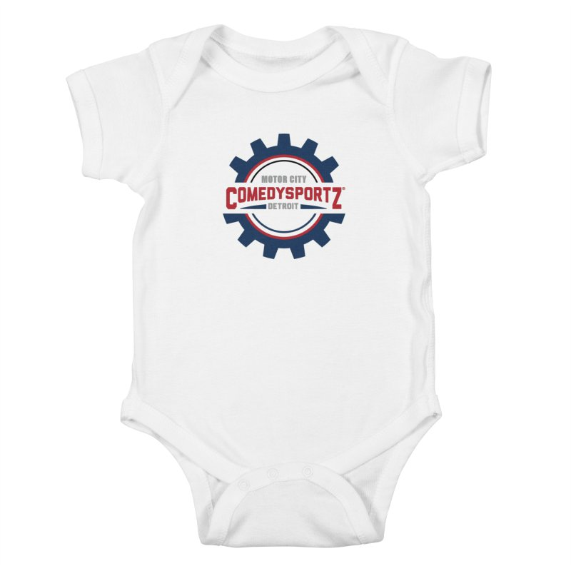 ComedySportz Color Logo Kids Baby Bodysuit by ComedySportz Detroit Merch