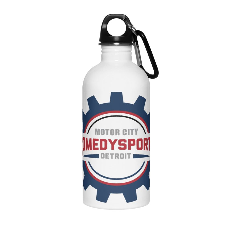 ComedySportz Color Logo Accessories Water Bottle by ComedySportz Detroit Merch