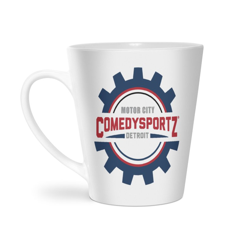 ComedySportz Color Logo Accessories Latte Mug by ComedySportz Detroit Merch