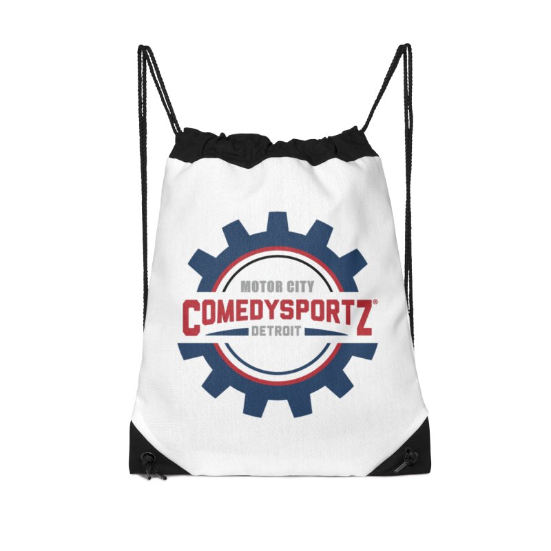 ComedySportz Color Logo Accessories Drawstring Bag Bag by ComedySportz Detroit Merch