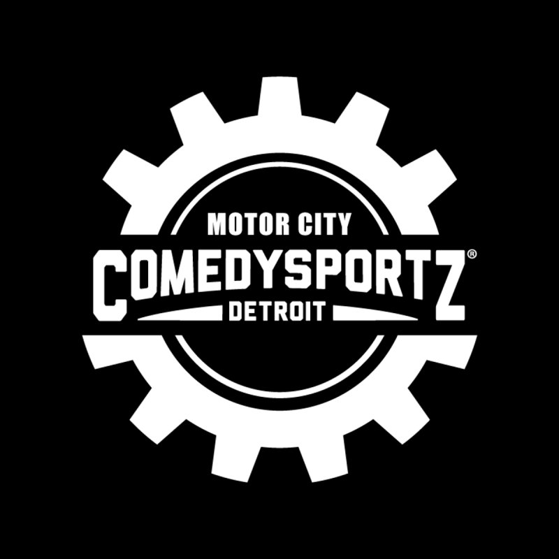 ComedySportz Logo White Men's Pullover Hoody by ComedySportz Detroit Merch
